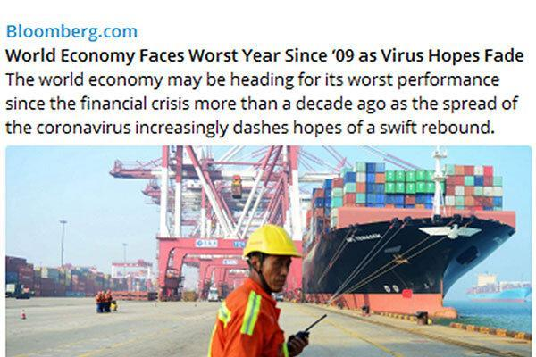 کرونا امید رونق اقتصاد جهانی را بر باد داد