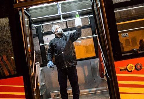 کاهش 60 درصدی مسافران اتوبوس های تهران ، هر روز ضد عفونی می شوند