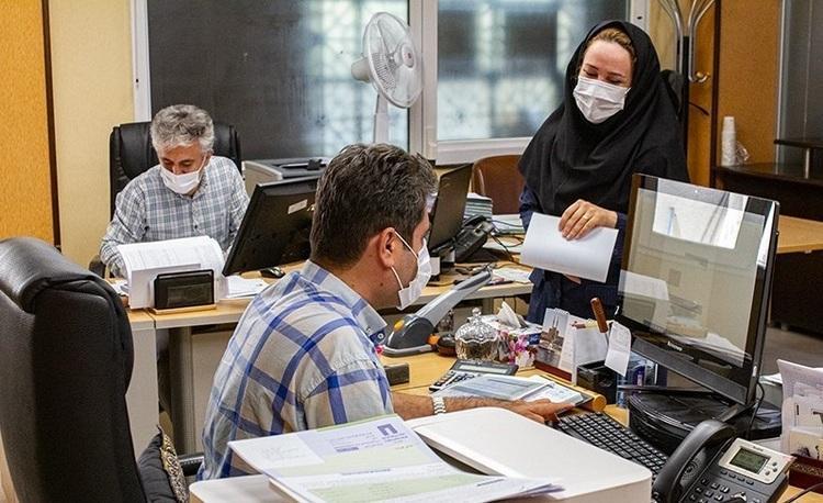 ممانعت از ورود افراد فاقد ماسک به ادارات