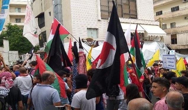 معترضان لبنانی در برابر سفارت آمریکا در بیروت تجمع کردند