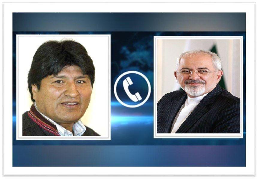 خبرنگاران ظریف: ایران برای گسترش روابط دوجانبه با دولت جدید بولیوی آماده است