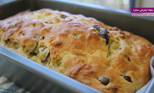 طرز تهیه نان زیتون و ژامبون لذیذ و خوشمزه