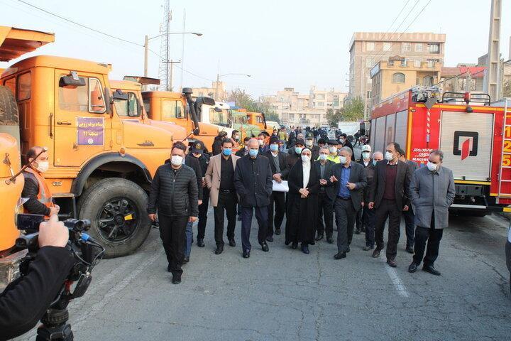 استقرار 240 خودروی نمک پاش در تهران