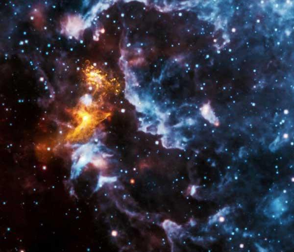 شکل های حیرت آور در میان پرتوهای یک ستاره نوترونی