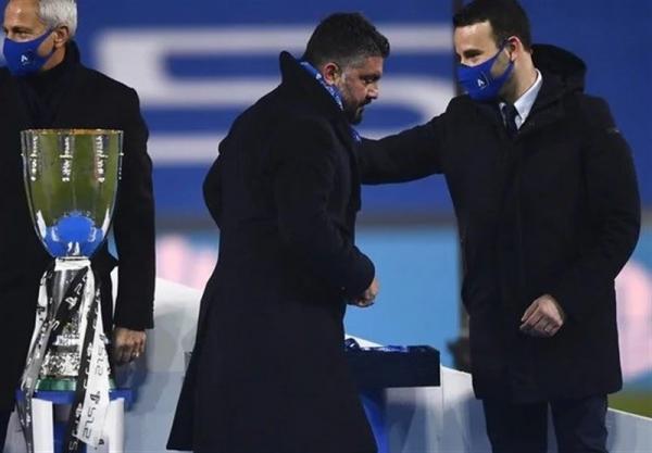 گتوسو: در نیمه اول کمی ترسیده بودیم اما از بازیکنانم تشکر می کنم، اینسینیه نباید فکر کند به خاطر او باختیم