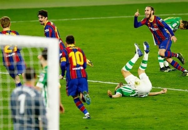 لالیگا، تداوم پیروزی های متوالی بارسلونا با فتح خانه بتیس