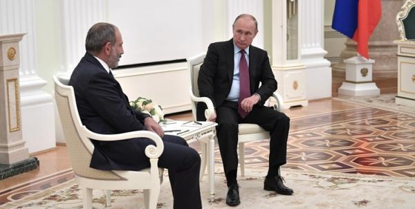پوتین و پاشینیان درباره قره باغ گفت وگو کردند خبرنگاران