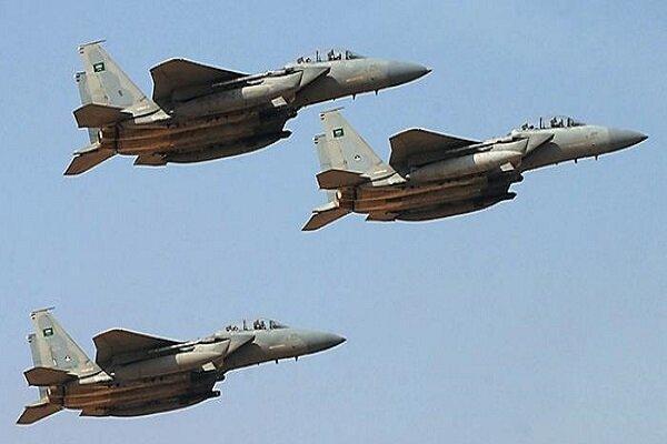 حمله جنگنده های سعودی به استان مارب