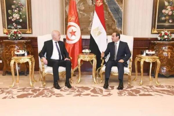 رؤسای جمهور مصر و تونس با یکدیگر ملاقات می نمایند